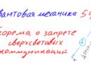 Квантовая механика 54 — Теорема о запрете сверхсветовых коммуникаций